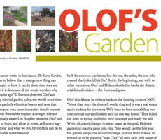"Cheviot Living Magazine ""Olof's Garden"" by Katrina L. Coombs"