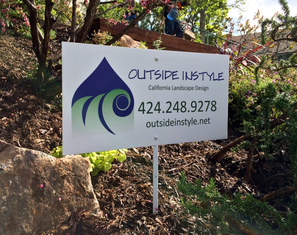 Outside InStyle California Landscape Design Sign